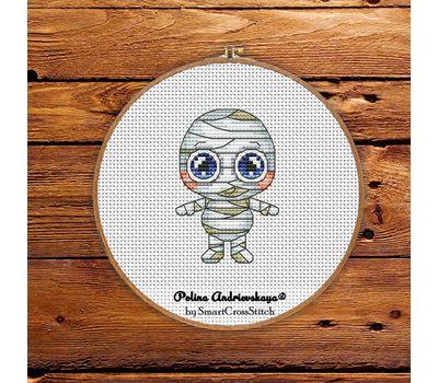 Mummy Voodoo Doll cross stitch pattern