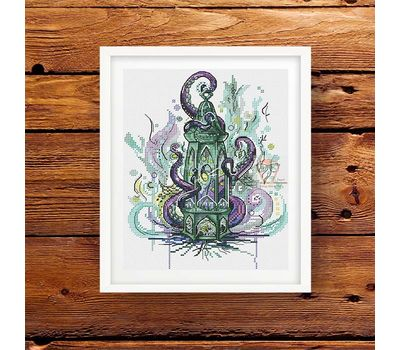 Octopus Sea Lantern cross stitch pattern