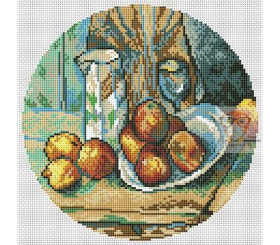 Still Life with Apples by Paul Cezanne cross stitch chart