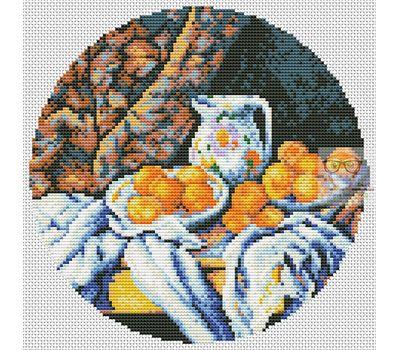 Still Life by Paul Cezanne cross stitch chart