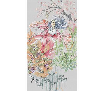 Princess Kaguya cross stitch chart
