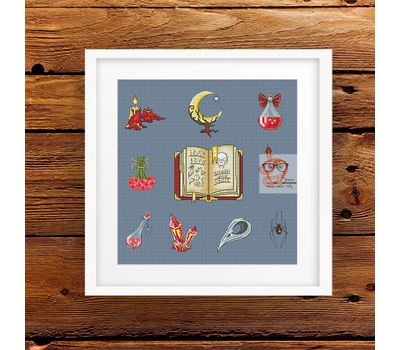Spellbook Sampler Red cross stitch pattern