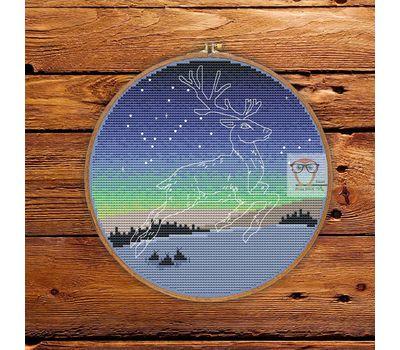 Winter Deer free cross stitch chart