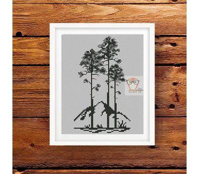 Pine trees Cross Stitch Pattern