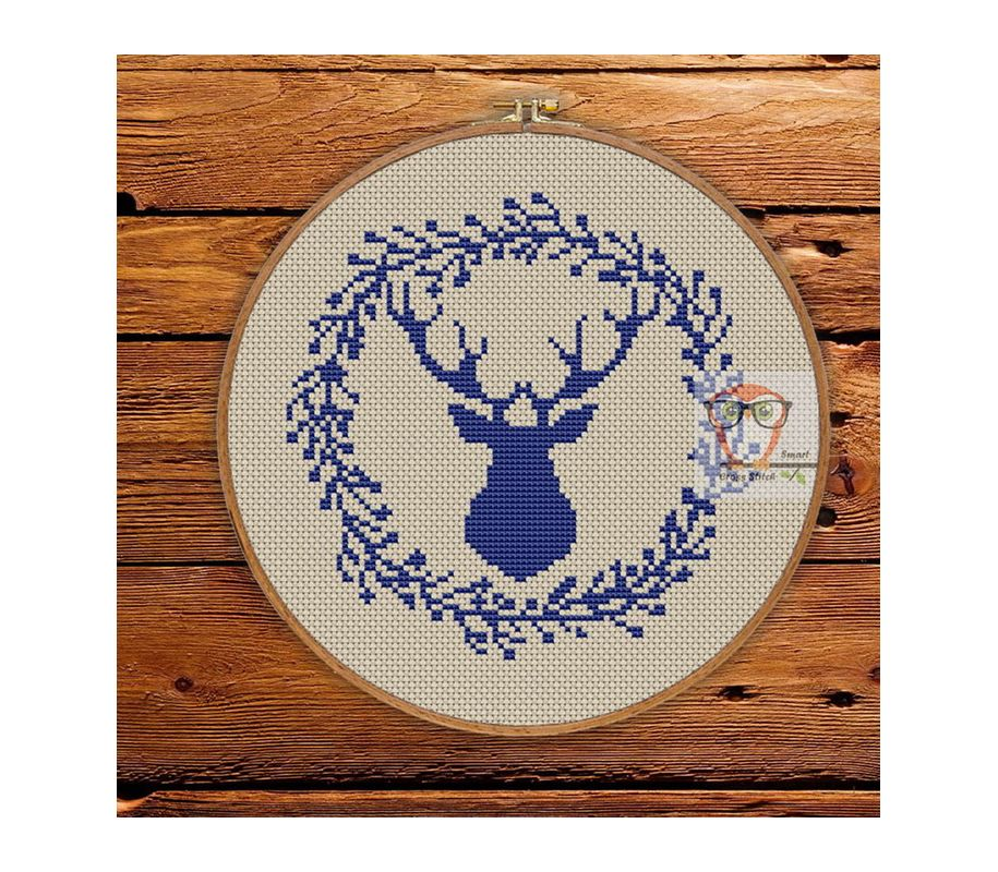 Reindeer Easy to do Christmas cross stitch pattern PDF set Santa For Kids and Beginners. Embroidery kit DIY Penguin Digital Snowman